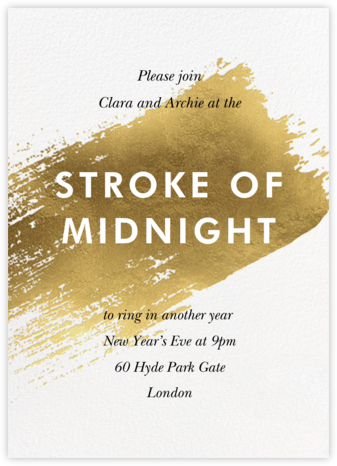 Impasto - Paperless Post - New Year's Eve Invitations