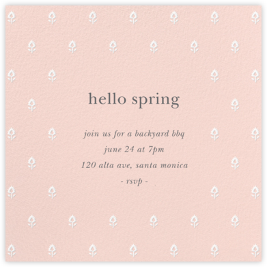 Embroidered Blossom - Meringue - Sugar Paper -