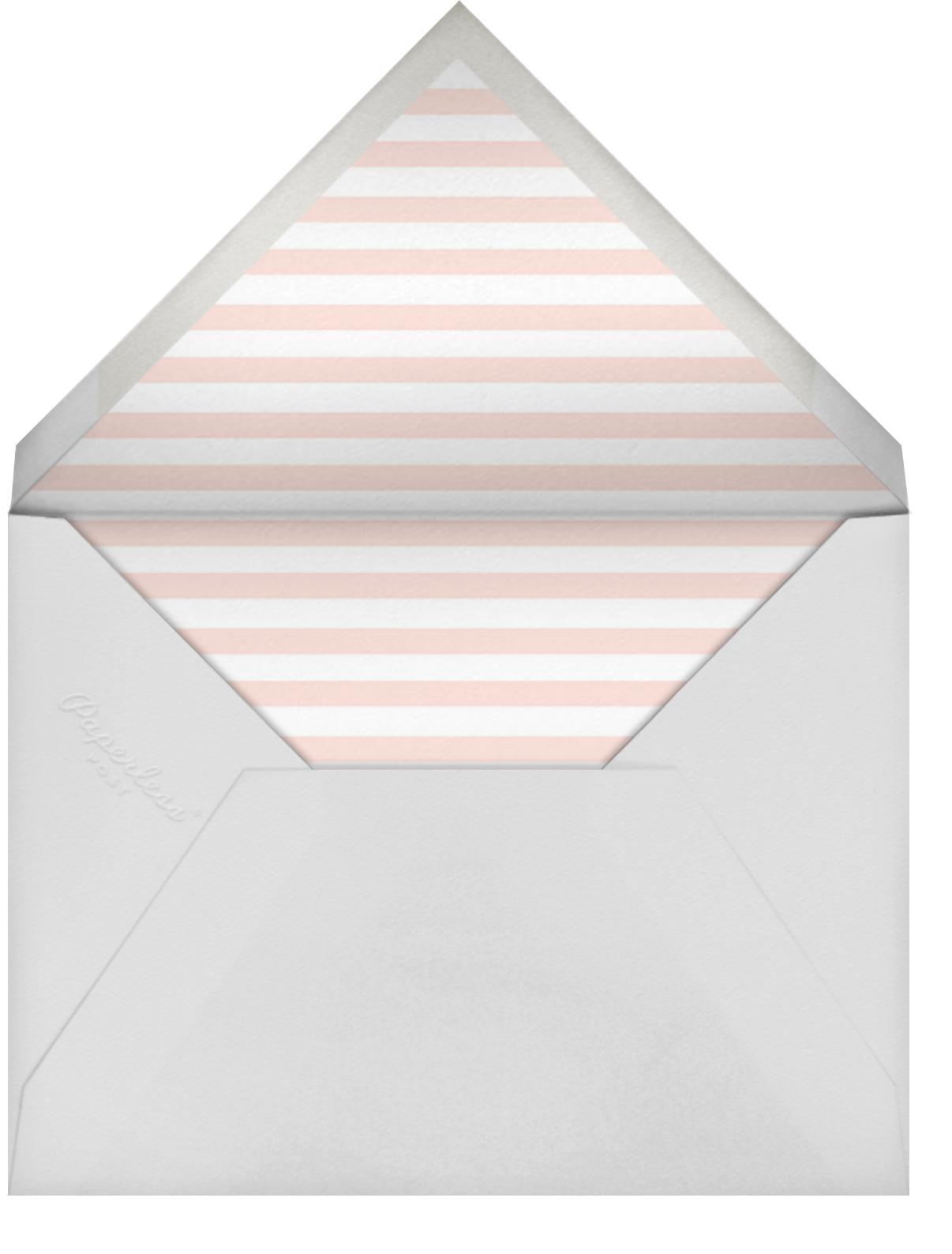 Embroidered Blossom - Meringue - Sugar Paper - Baby shower - envelope back