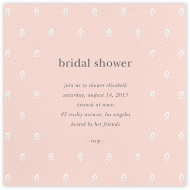 Embroidered Blossom - Meringue - Sugar Paper - Bridal shower invitations