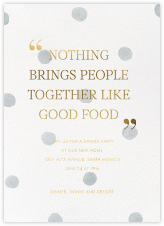 Watercolor Dot - Sugar Paper - Dinner Party Invitations