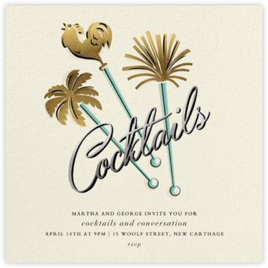 Western Swizzler - Cream - Paperless Post - Luau party invitations