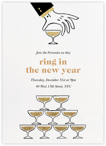 The Great Pyramid - Paperless Post - New Year's Eve Invitations