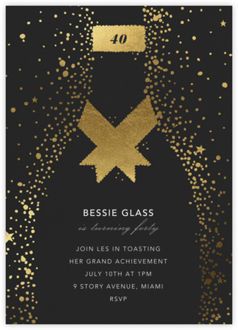 Grand Cru - Paperless Post - Milestone birthday invitations