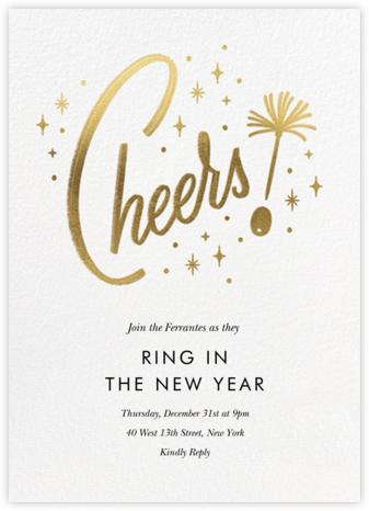 Googie Garnish - White - Paperless Post - New Year's Eve Invitations