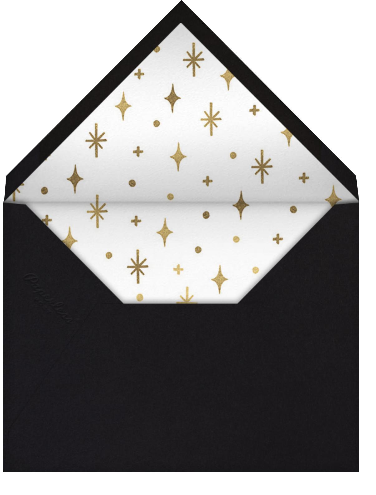 Googie Garnish - Black - Paperless Post - New Year's Eve - envelope back