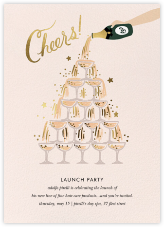 Champagne Tower - Fair - Rifle Paper Co. - Launch Party Invitations