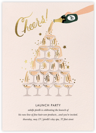 Champagne Tower - Rifle Paper Co. - Launch Party Invitations