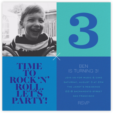 Birthday Grid - Blue - bluepoolroad -