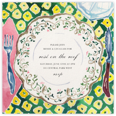 Countryhouse China - Happy Menocal - Summer entertaining invitations