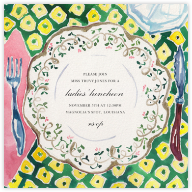 Countryhouse China - Happy Menocal - Brunch invitations