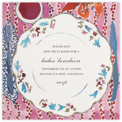Townhouse China - Happy Menocal - Summer entertaining invitations