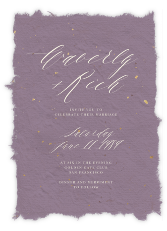 Cennini (Invitation) - Lilac - Paperless Post - Wedding Invitations