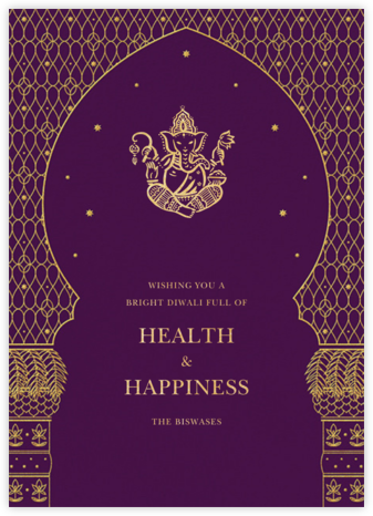 Vinayanka - Purple - Paperless Post - Online greeting cards