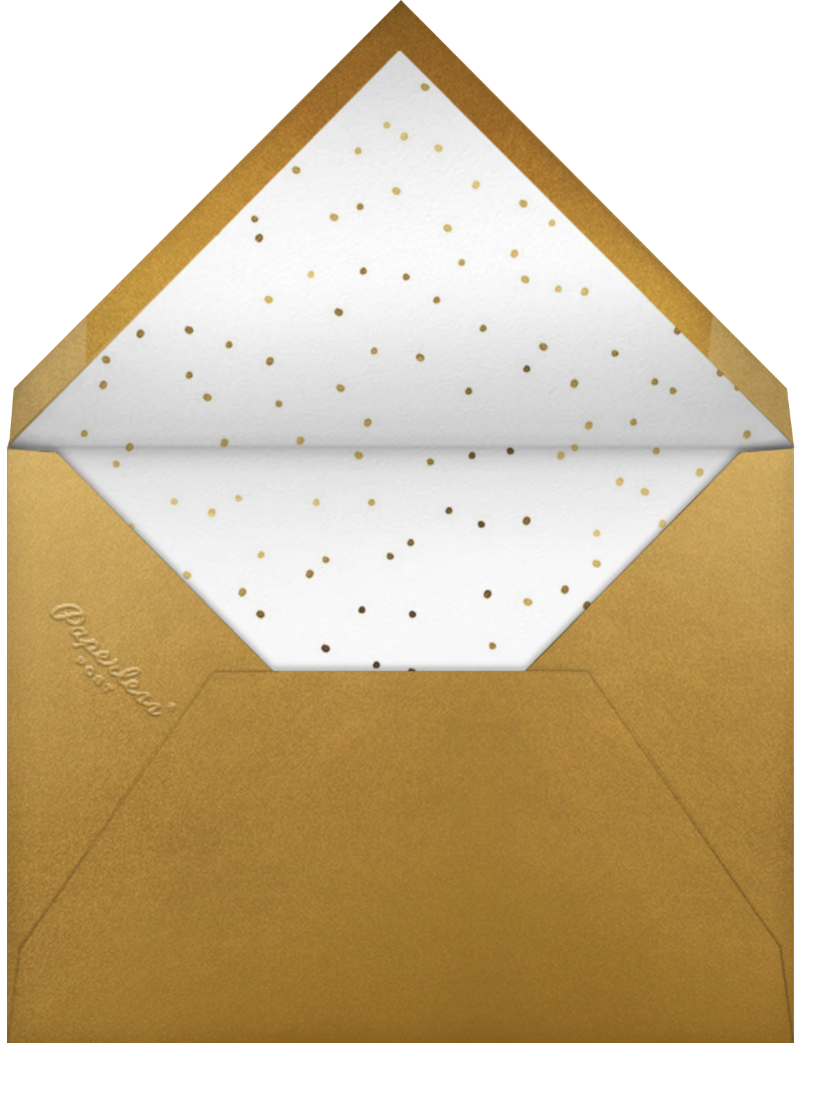 Curlicue Cheers - Pearl White - Paperless Post - New Year's Eve - envelope back