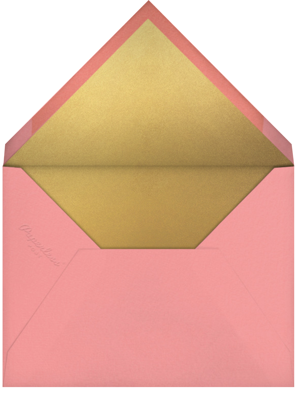 Embossed Bubbles - Paperless Post - New Year's Eve - envelope back