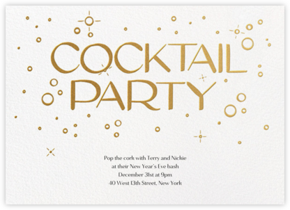 Embossed Bubbles - Paperless Post - New Year's Eve Invitations