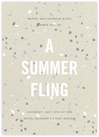 Terrazzo - Cream - Paperless Post - Summer Party Invitations