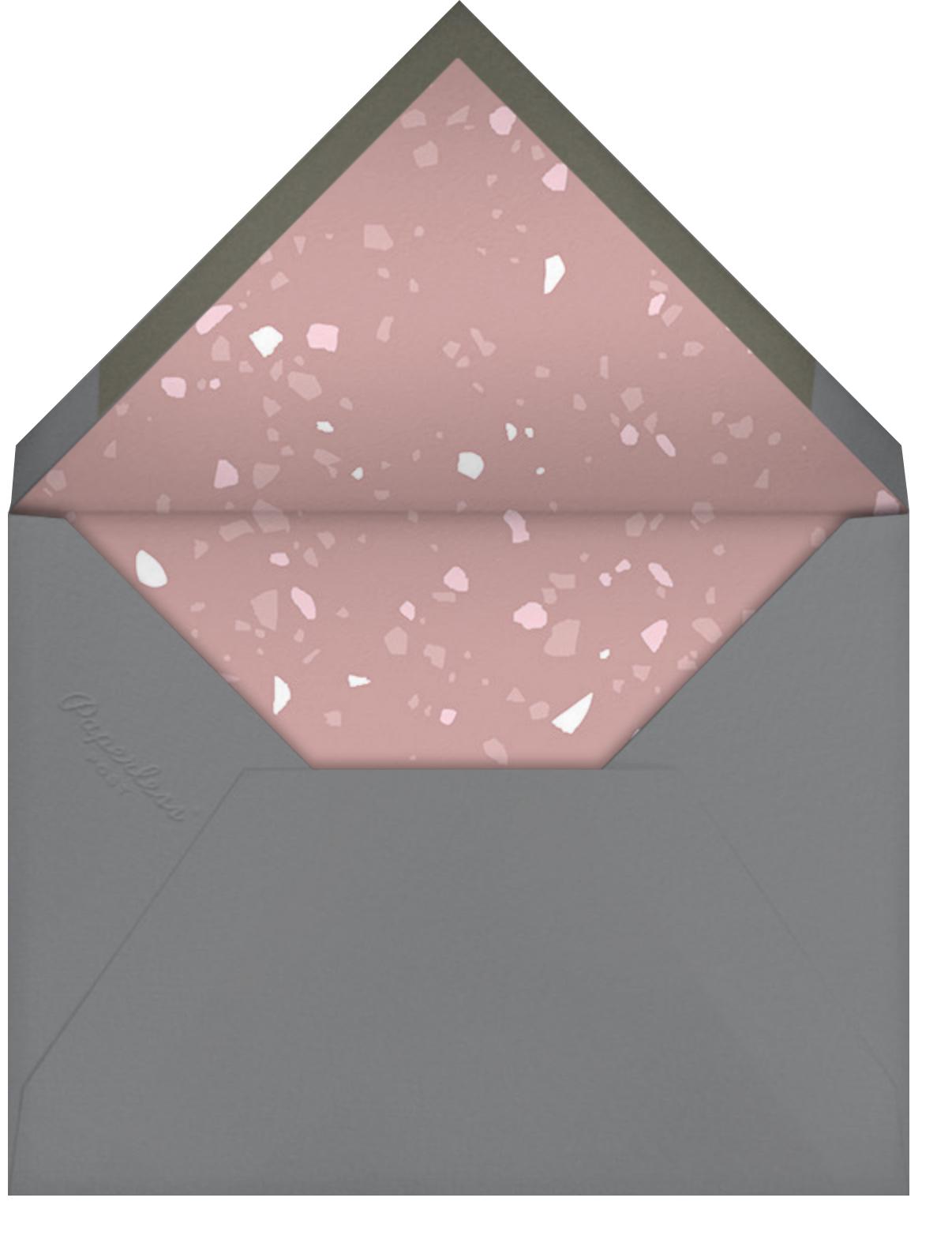 Terrazzo - Pink - Paperless Post - Brunch - envelope back