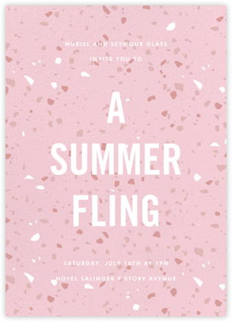 Terrazzo - Pink - Paperless Post - Brunch invitations