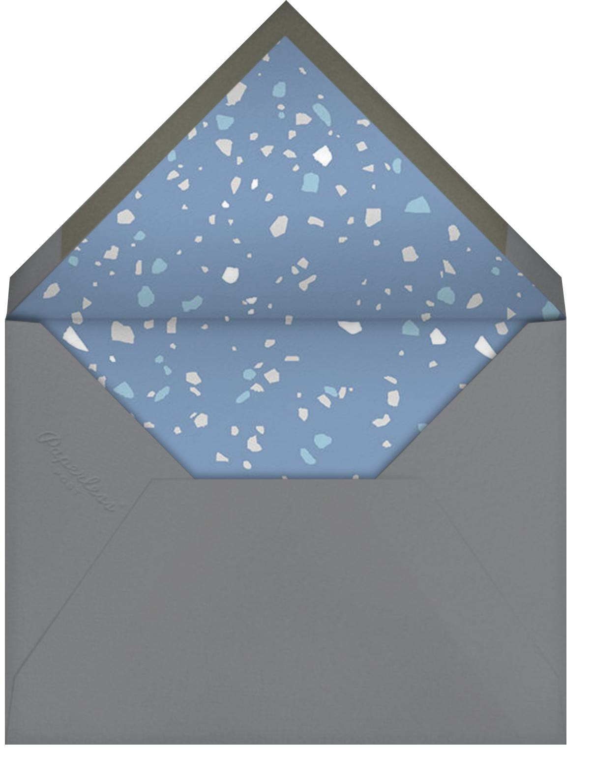 Terrazzo - Blue - Paperless Post - Brunch - envelope back