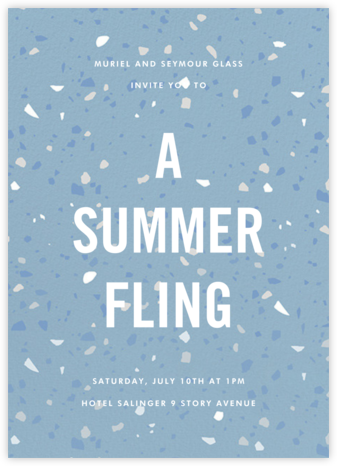 Terrazzo - Blue - Paperless Post - Summer Party Invitations