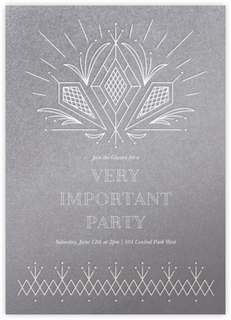 Crystal Clear - Paperless Post - Dinner party invitations