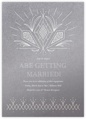 Crystal Clear - Paperless Post - Engagement party invitations
