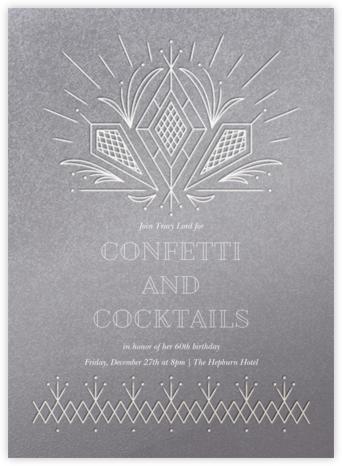 Crystal Clear - Paperless Post - Milestone Birthday Invitations