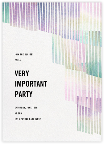 Swaying Fringe - Holographic - Paperless Post - Dinner Party Invitations