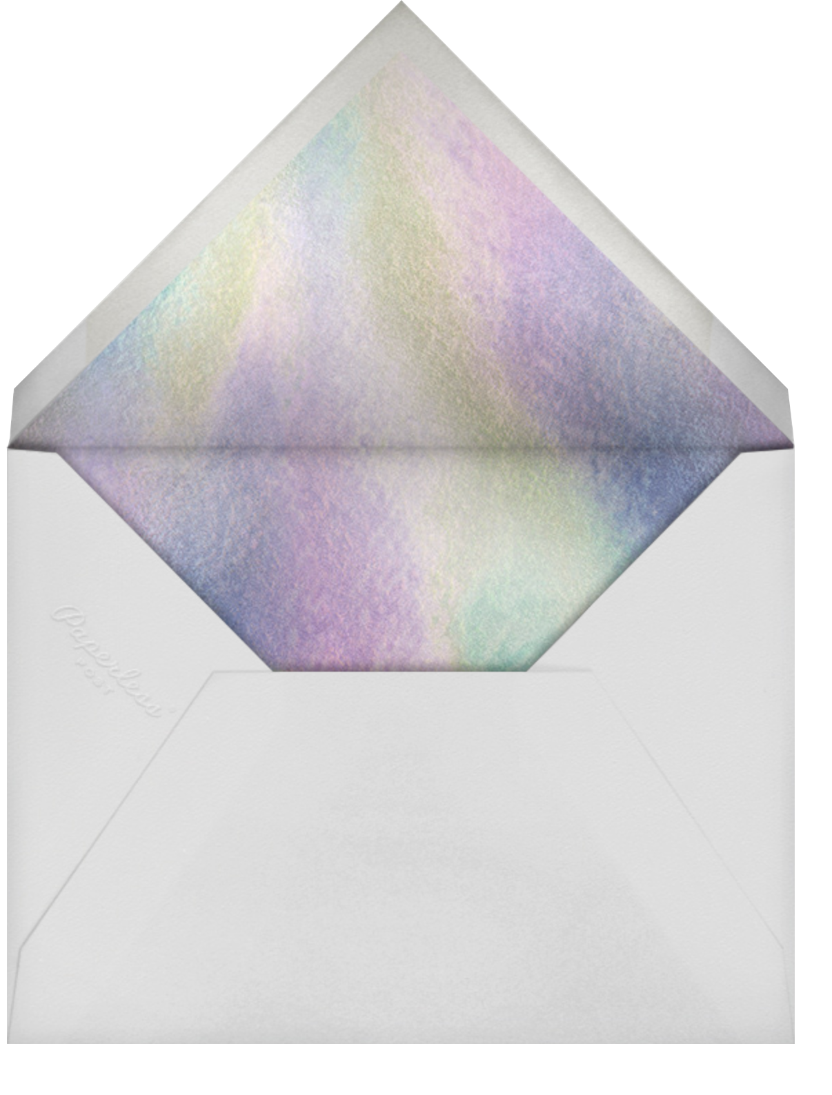 Swaying Fringe - Holographic - Paperless Post - Summer entertaining - envelope back
