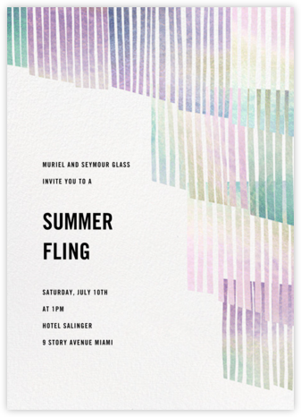 Swaying Fringe - Holographic - Paperless Post - Summer Party Invitations