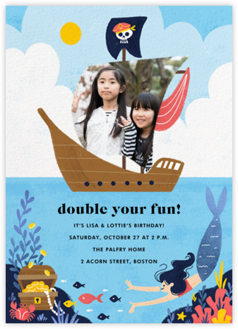Buccaneers and Beauties - Light - Paperless Post - Online Kids' Birthday Invitations