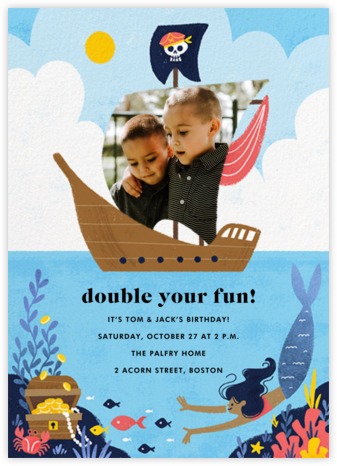 Buccaneers and Beauties - Medium - Paperless Post - Birthday invitations