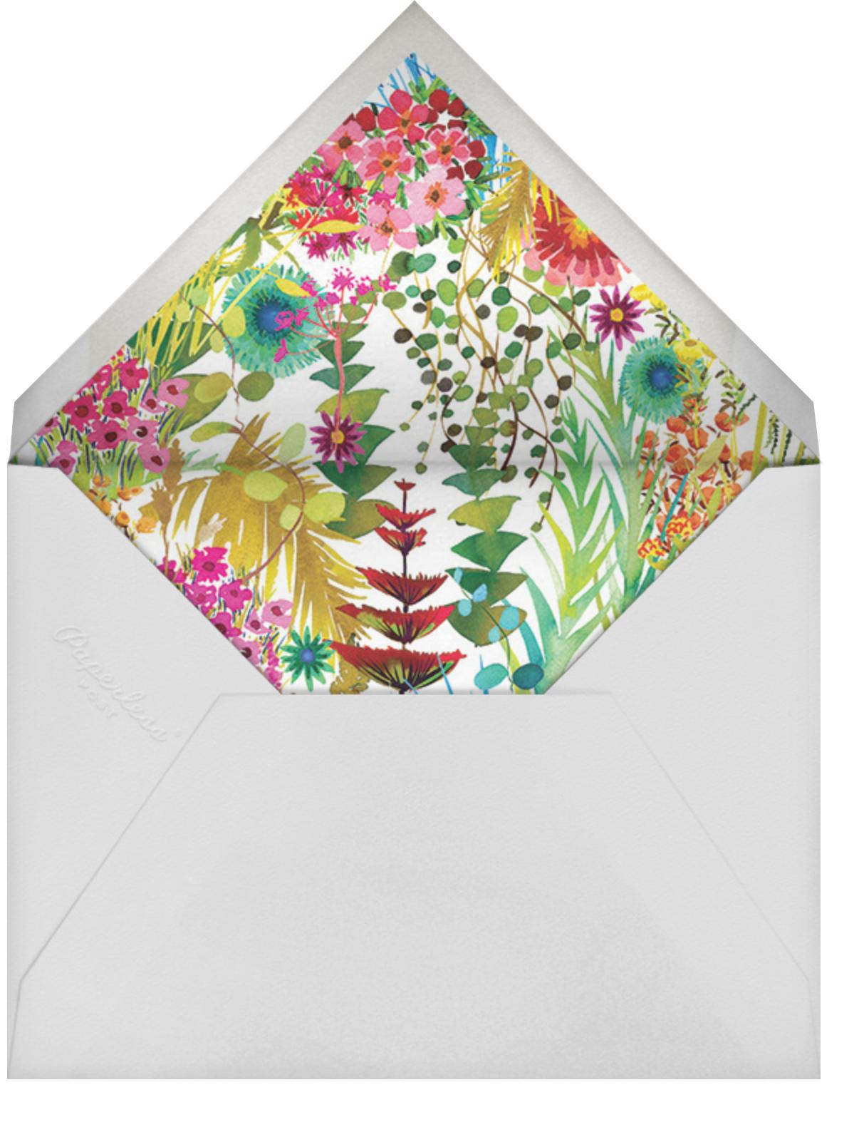 Tresco - Liberty - Wedding brunch - envelope back