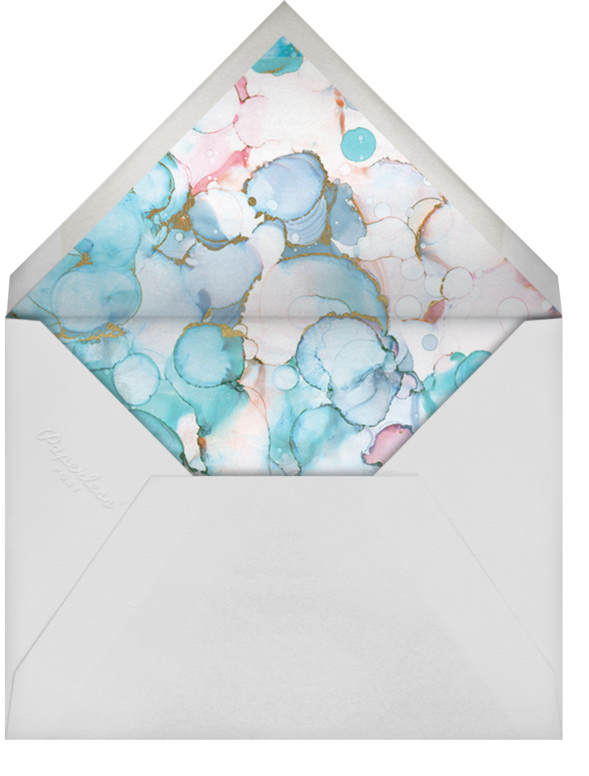 Shimmering Swirls - Ashley G - Birthday - envelope back