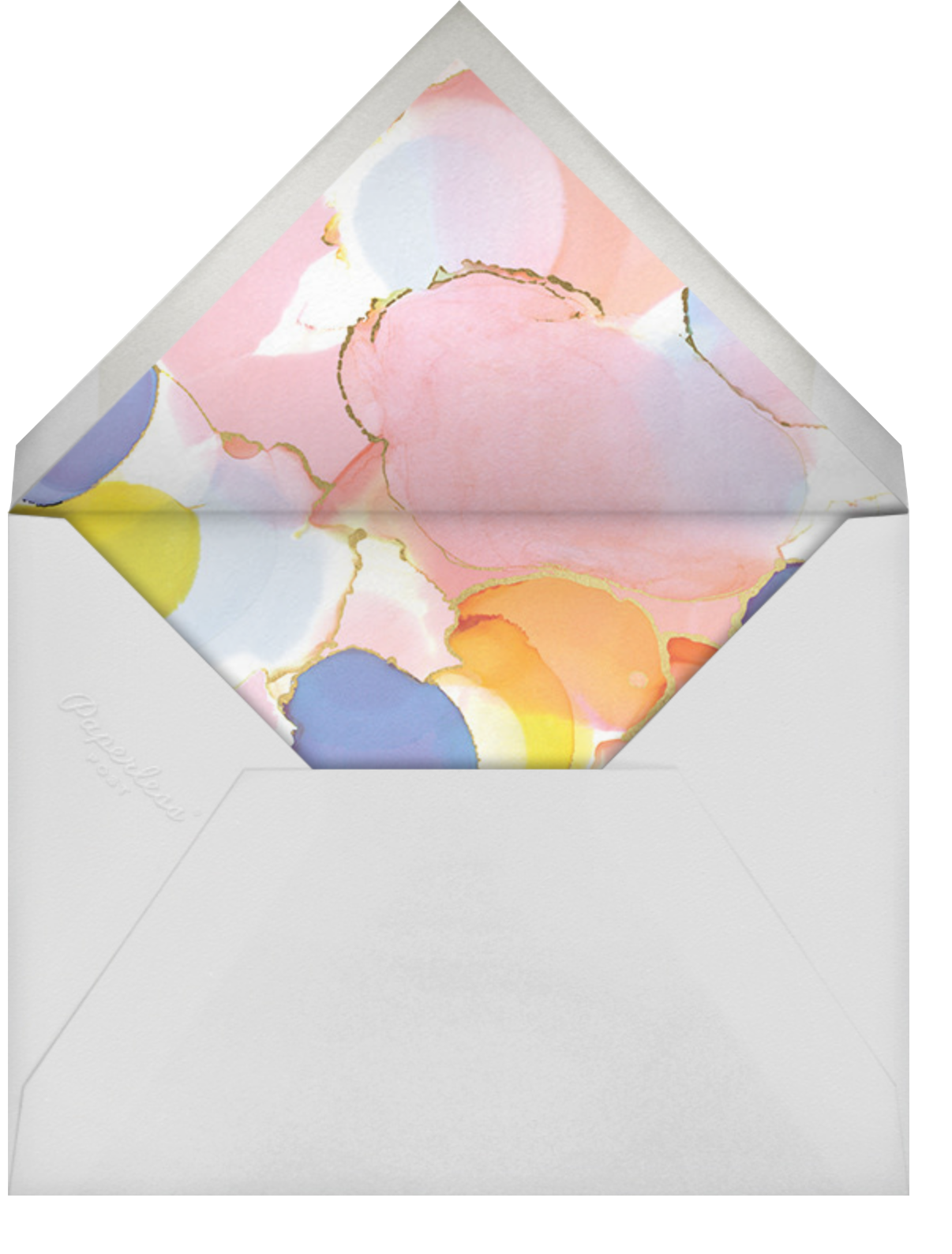 Gilded Rainbow - Ashley G - Adult birthday - envelope back