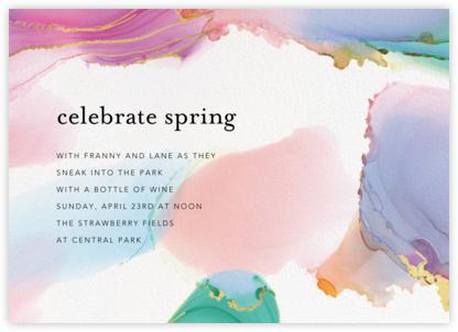 Gilded Rainbow - Ashley G - Spring Party Invitations
