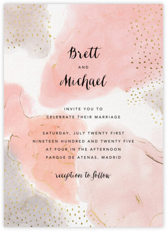 Ethereal Wash (Invitation) - Ashley G - Wedding Invitations