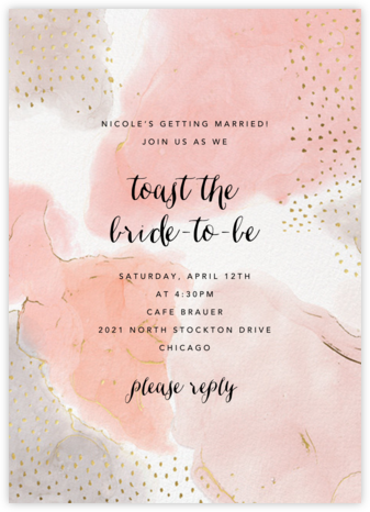Ethereal Wash - Ashley G - Bridal shower invitations