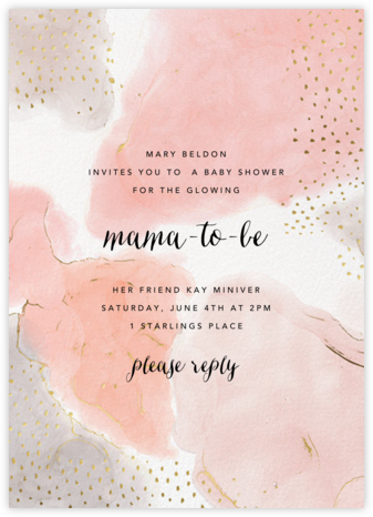 Ethereal Wash - Ashley G - Baby Shower Invitations
