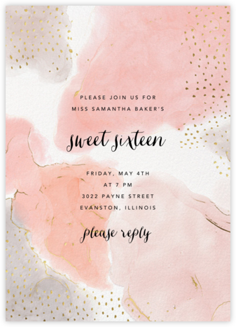 Ethereal Wash - Ashley G - Sweet 16 invitations