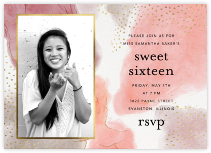 Ethereal Wash Photo - Ashley G - Sweet 16 invitations