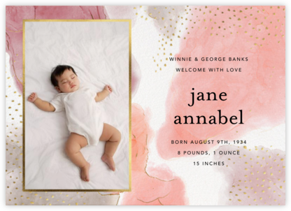 Ethereal Wash Photo - Ashley G - Birth Announcements