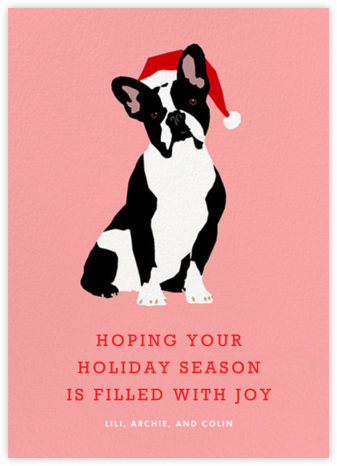 Boston Terrier Santa | tall