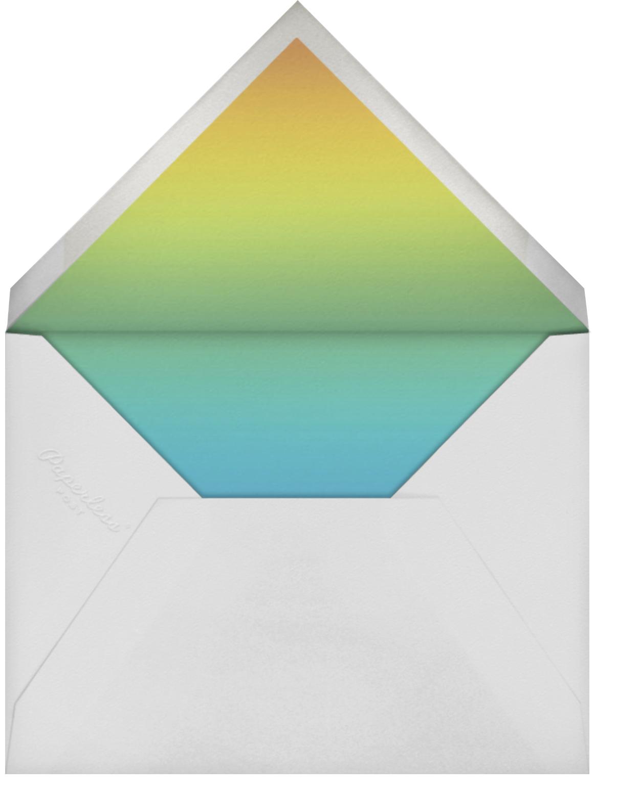 Gradient Painted - Green - Paperless Post - Bridal shower - envelope back