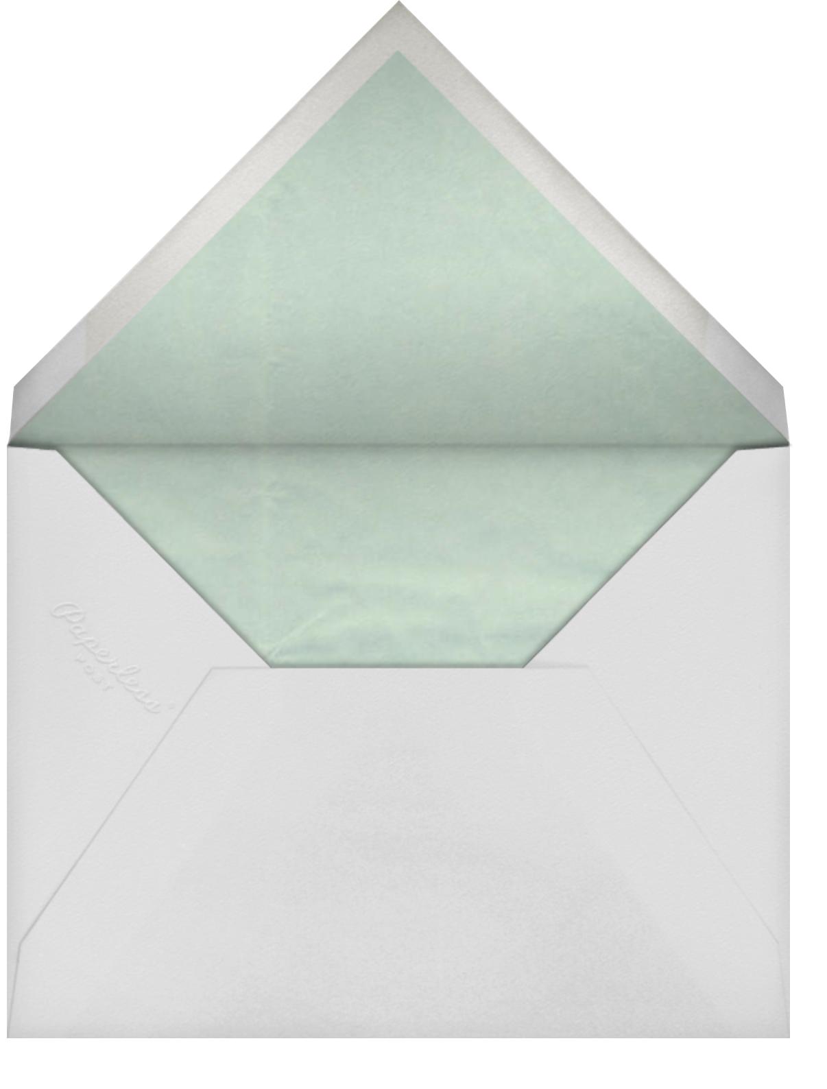 Gradient Brush Strokes - Green - Paperless Post - Bridal shower - envelope back