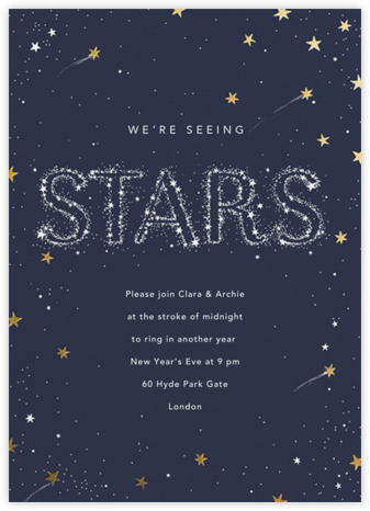 City of Stars - Paperless Post - New Year's Eve Invitations