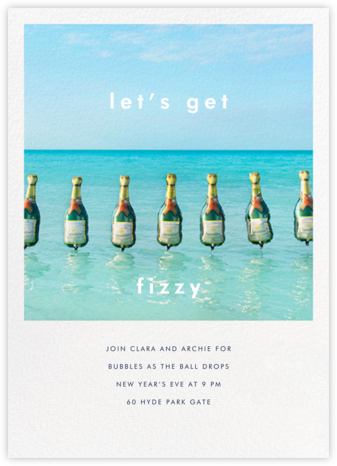 Champagne Float - Gray Malin - New Year's Eve Invitations