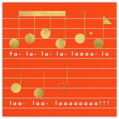 Falala (Invitation) - Flame - The Indigo Bunting - Holiday invitations
